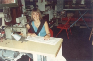 my younger self producing soft furnishings in the 90's